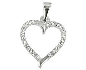 Zlatý přívěsek Srdce s čirými krystaly 249 001 00462 07 - 0,90 g
