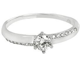 Zlatý zásnubný prsteň s kryštálmi 229 001 00762 07