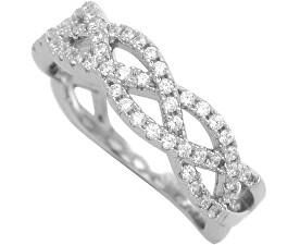 Stříbrný prsten se zirkony 31G3035