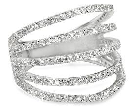 Stříbrný prsten se zirkony 31G3098