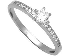 Stříbrný zásnubní prsten 31G3042