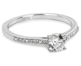 Stříbrný zásnubní prsten 31G3050