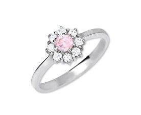 Inel de logodna din argint 426 001 00432 04 - roz