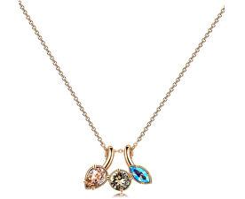 Pozlacený náhrdelník s krystaly Affinity BFF71