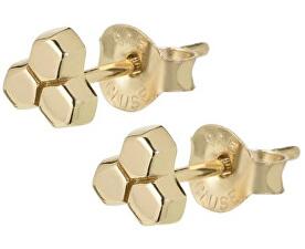 Hatszög alakú aranyozott fülbevaló CLJ51017