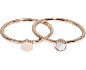 Két darabos gyűrű szett hexagonnalCLJ40001