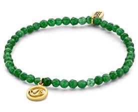 Zelený Jadeitový náramok s holubičkami 865-180-090169-0000