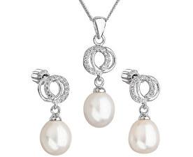 Překrásná perličková sada se zirkony Pavona 29003.1 bílá