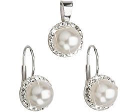 Evolution Group Sada s perlami a krystaly Swarovski 39091.1 bílá (náušnice 8d9b2ec6d70