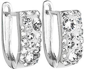 Stříbrné náušnice s krystaly Swarovski 31123.1 krystal