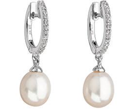 Stříbrné perlové náušnice Pavona 21002.1