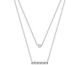 Vrstvený stříbrný náhrdelník ESPRIT-JW52905