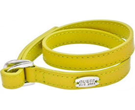 Žlutý kožený náramek UBB21304-S
