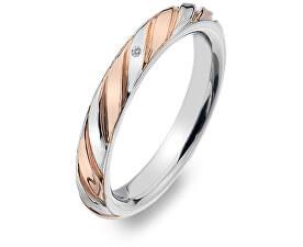 Bicolor prsteň s diamantom Breeze DR177
