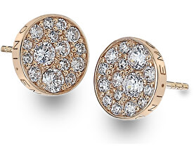 Stříbrné náušnice Hot Diamonds Emozioni Scintilla Rose Gold DE457