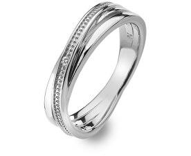 Stříbrný prsten s diamantem Chandelier Vintage DR179