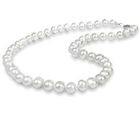 Náhrdelník s pravými bílými perlami JL0264