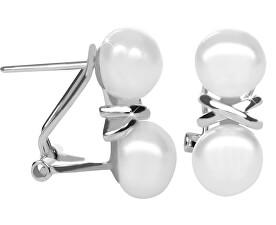 Stříbrné náušnice s pravými perlami JL0394