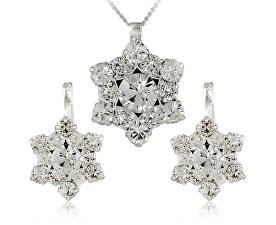 Súprava šperkov Riana Crystal 34185 (náušnice, retiazka, prívesok)