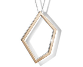 Stříbrný náhrdelník s bicolor přívěskem M46007