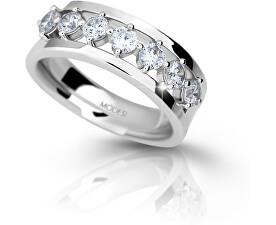 Stříbrný prsten se zirkony M11084