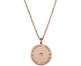 Jemný pozlacený náhrdelník z oceli MKJ2656791
