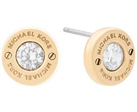 Pozlacené náušnice s krystalem MKJ6359710