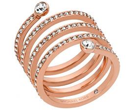 Pozlacený ocelový prsten s krystaly MKJ4724791