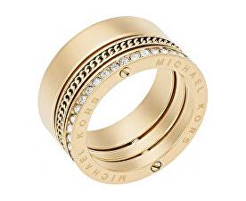 Pozlacený ocelový prsten s krystaly MKJ5836710