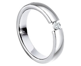 Ocelový prsten s diamantem Love Rings S8532