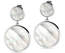 Stříbrné visací náušnice s perletí Perfetta SALX07