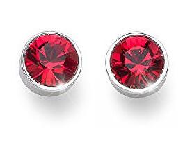 Náušnice pecky s červenými krystaly Ocean Uno 22623 227