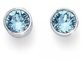 Náušnice pecky se světle modrými krystaly Ocean Uno 22623 202