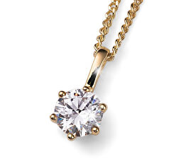 Colier placat cu aur din argint cu cristal Brilliance 61125G 001