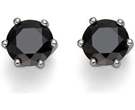 Stříbrné náušnice s černými krystaly Morning Brilliance Medium 62066 BLA
