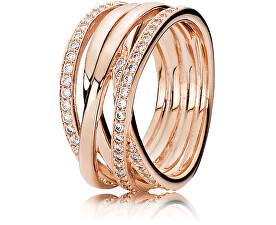 Bronzový prepletený prsteň 180919CZ
