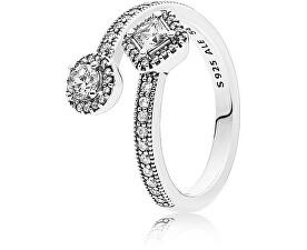 Luxusný strieborný prsteň 191031CZ