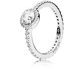 Oslnivý strieborný prsteň 190946CZ