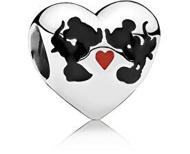 Stříbrný korálek Disney Polibek Minnie a Mickeyho 791443ENMX