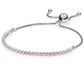 Pandora Stříbrný náramek s růžovými krystaly 590524PCZ 0c6cb276c29
