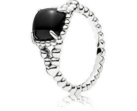 Pandora Stříbrný prsten s černým kamenem 197188NCK f69fe15b490