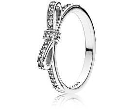 Pandora Třpytivý prsten s mašličkou 190906CZ 058a03cfa98