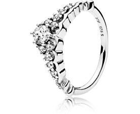 Pandora Třpytivý stříbrný prsten Diadém 196226CZ 6180e19eff8