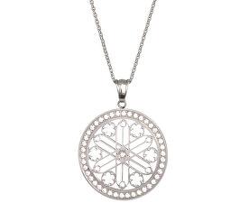 Ocelový náhrdelník s krystaly Rosette 7238 00