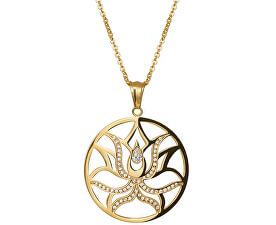 Pozlacený náhrdelník Lotus Flower 7284Y00