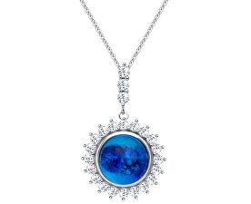 Strieborný náhrdelník Camellia 6106 68 (retiazka, prívesok)