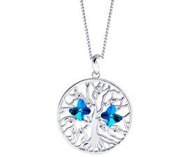 Stříbrný náhrdelník s krystaly Tree of Life 6072 46