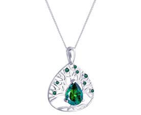 dafae806390 Preciosa Stříbrný náhrdelník se zirkony Green Tree of Life 5220 66  (řetízek