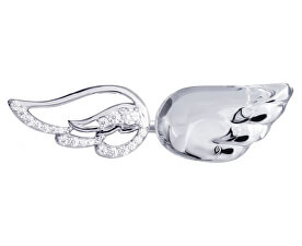 Strieborný otvorený prsteň s kryštálom Crystal Wings 6066 00
