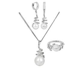 Súprava šperkov s pravou perlou + retiazka zdarma